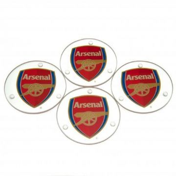 Arsenal Glass Coasters